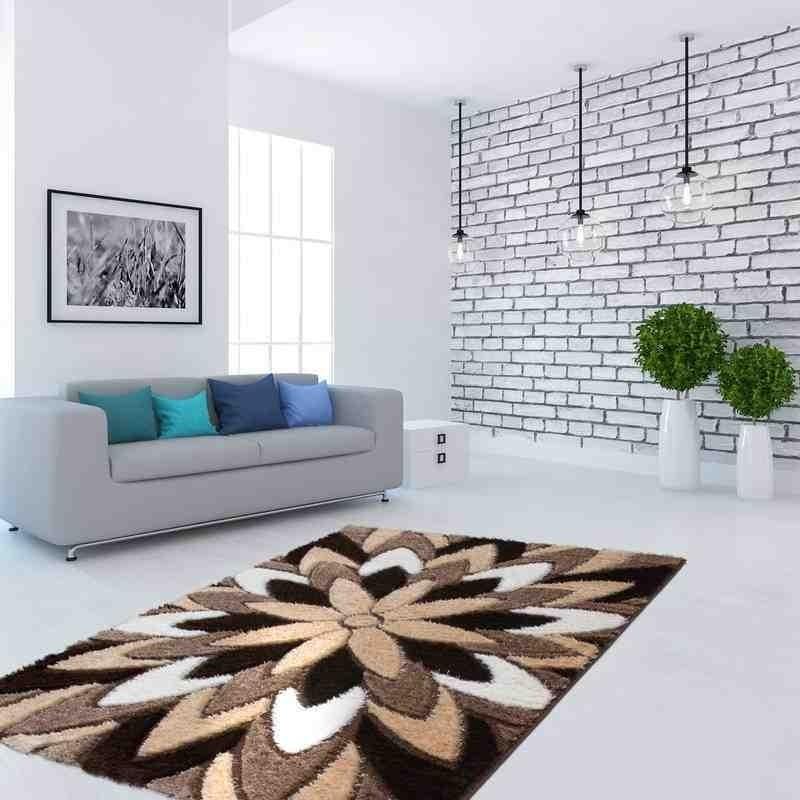 tappeto moderno floreale china yimian marrone