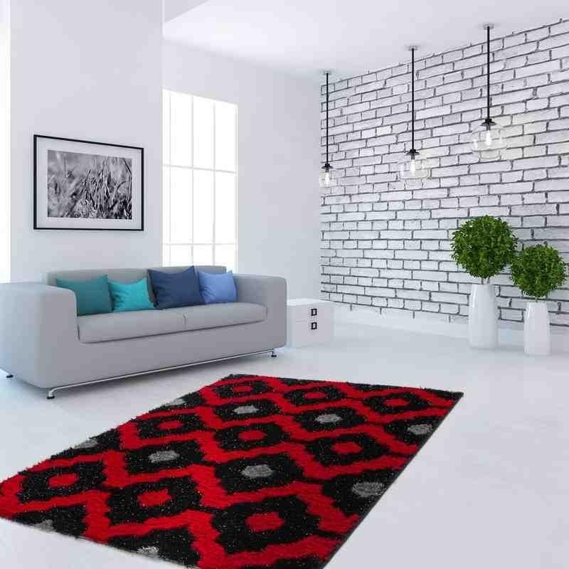 tappeto moderno fantasia china songhua rosso