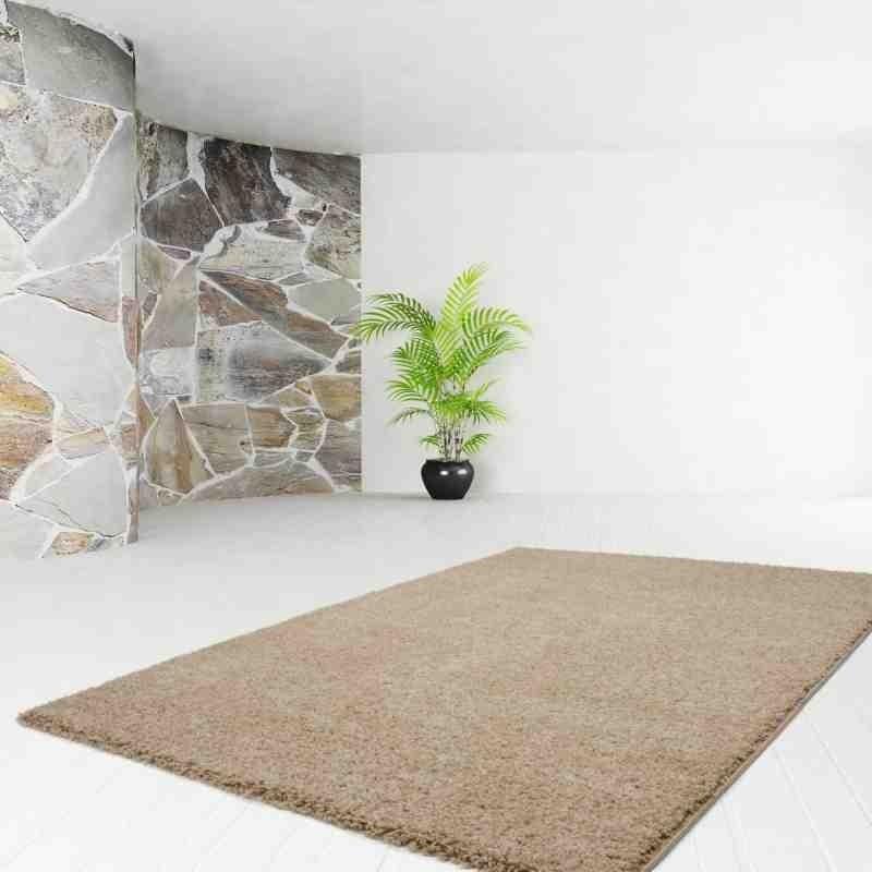 tappeto moderno tinta unita comfy 100 beige