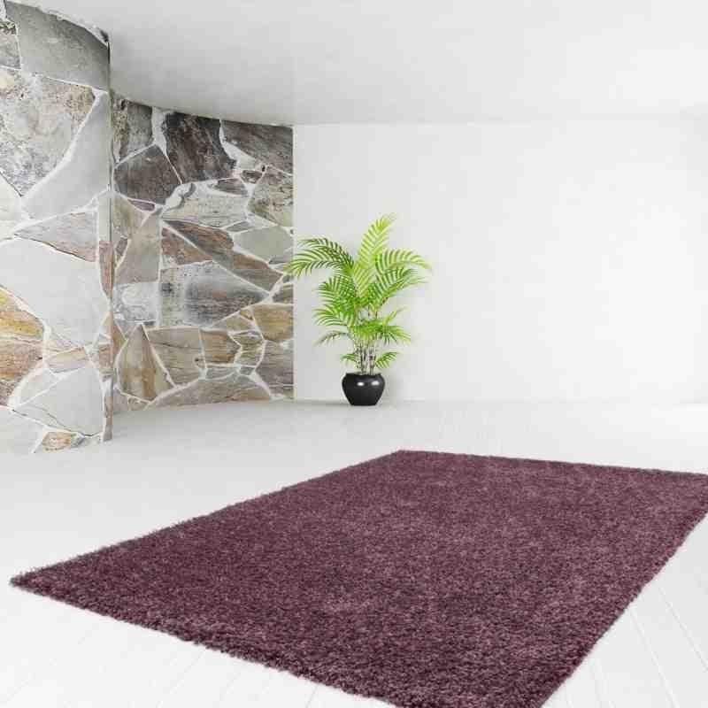 tappeto moderno tinta unita comfy 100 violetto