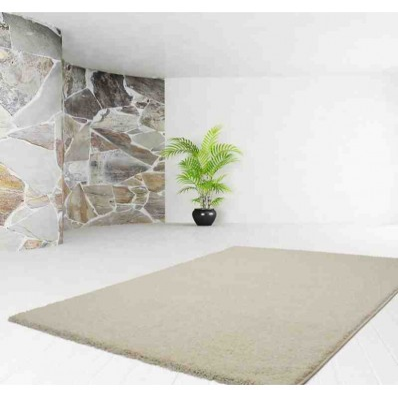 tappeto moderno tinta unita comfy 100 crema