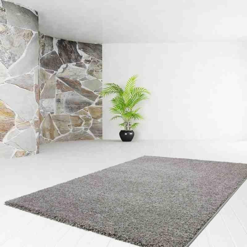 tappeto moderno tinta unita comfy 100 grigio