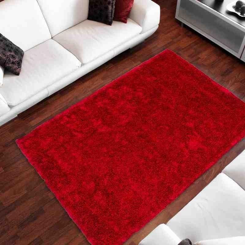 tappeto moderno tinta unita cyprus nikosia rosso