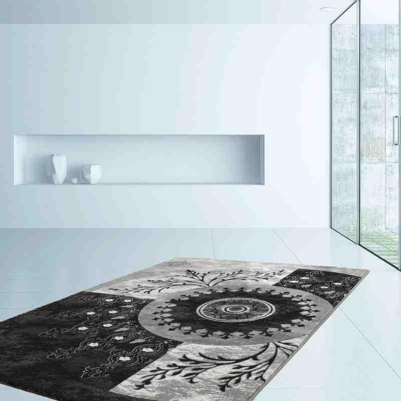 tappeto moderno fantasia denmark skive nero