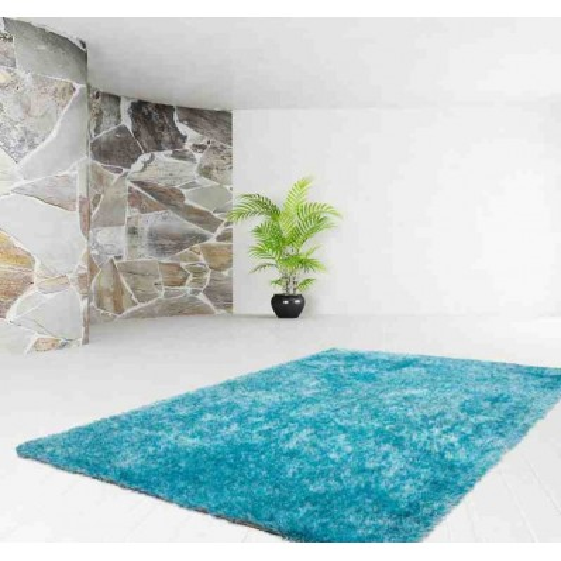 tappeto moderno tinta unita diamond 700 ciano