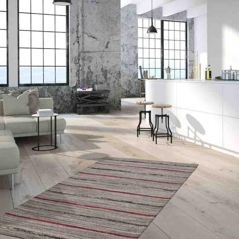 tappeto moderno geometrico duarte 110 nature-rosso lana