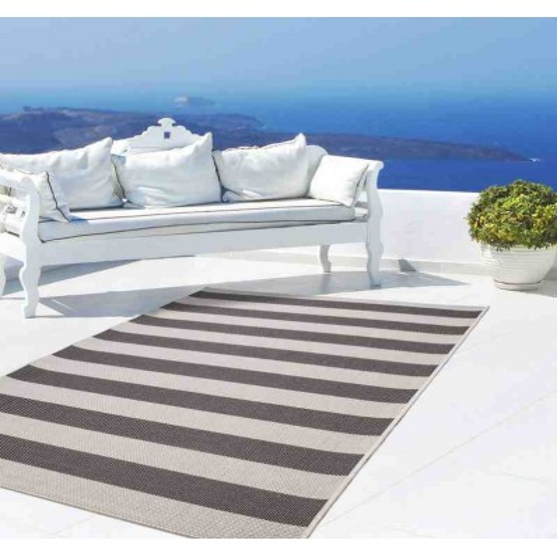 tappeto moderno geometrico equator 400 nero-avorio