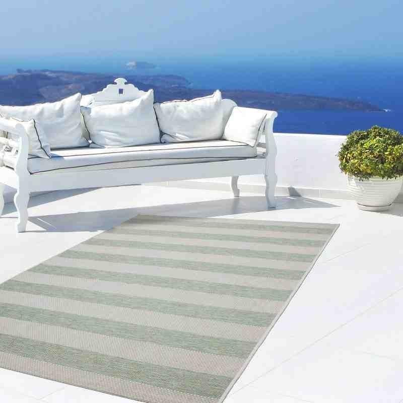 tappeto moderno geometrico equator 400 verde-avorio
