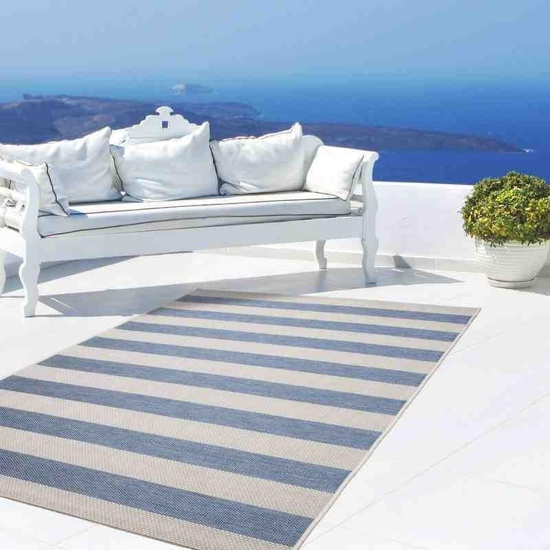 tappeto moderno geometrico equator 400 blu-avorio