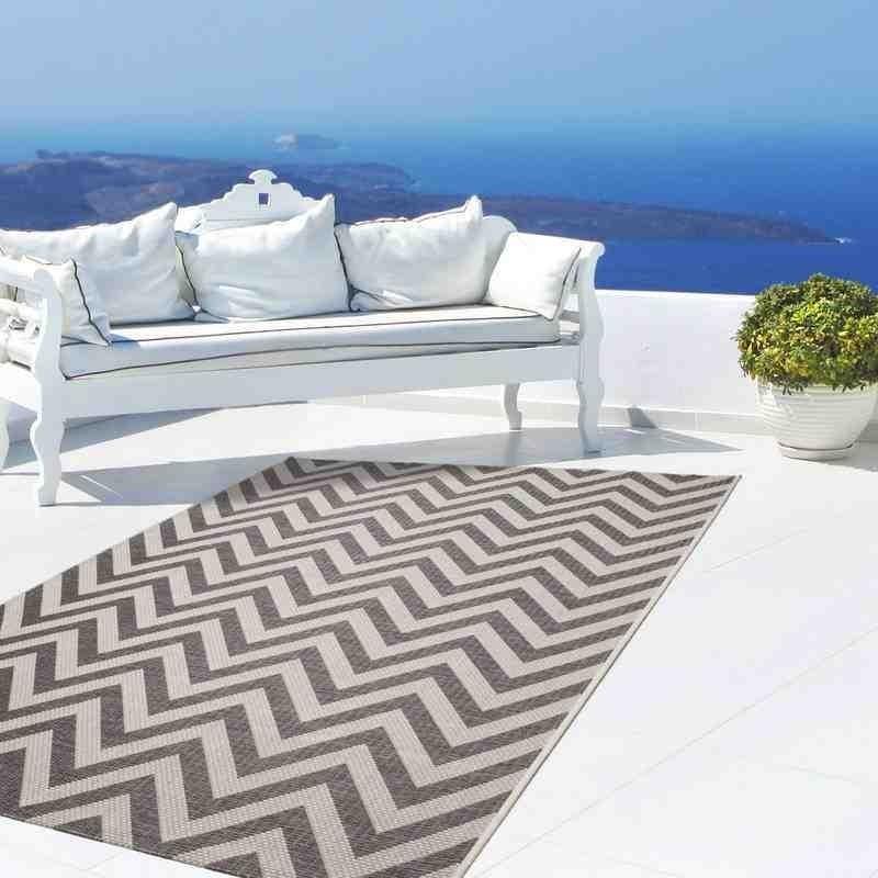 tappeto moderno geometrico equator 360 grigio-avorio