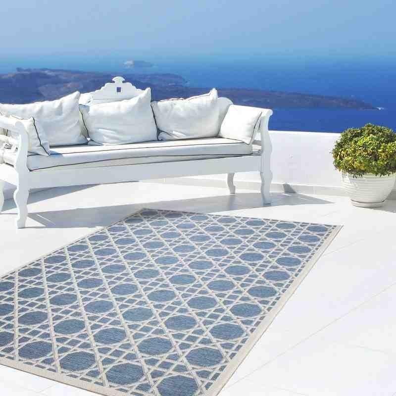 tappeto moderno geometrico equator 320 blu-avorio