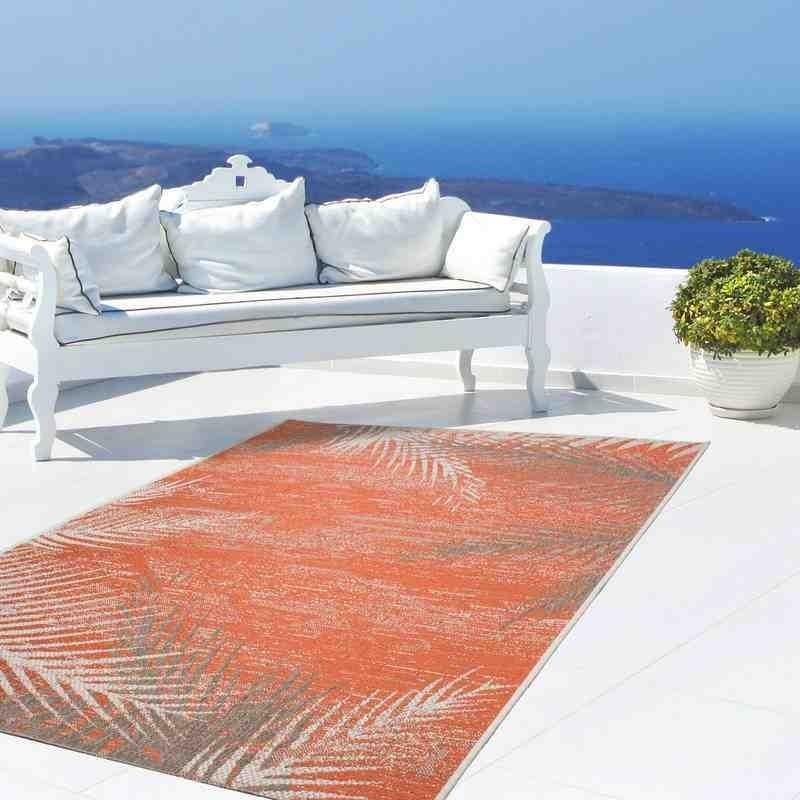tappeto moderno fantasia equator 340 arancio