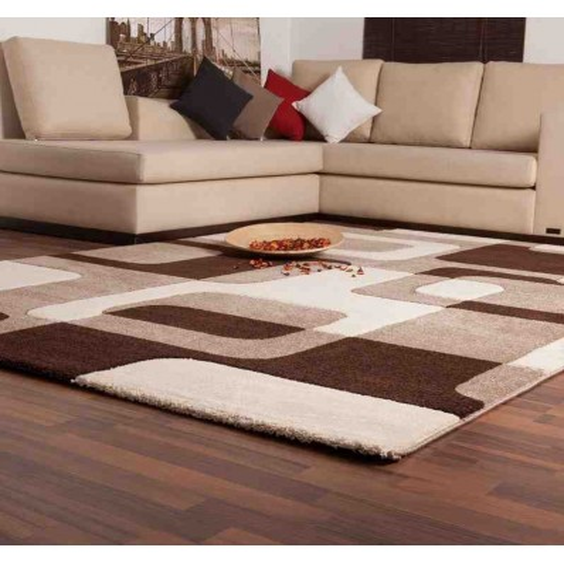 tappeto moderno geometrico france versailles moca-beige