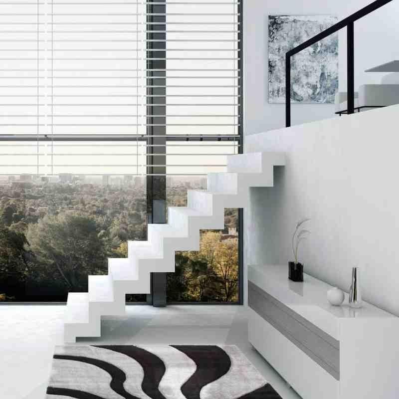 tappeto moderno fantasia france provence nero-argento