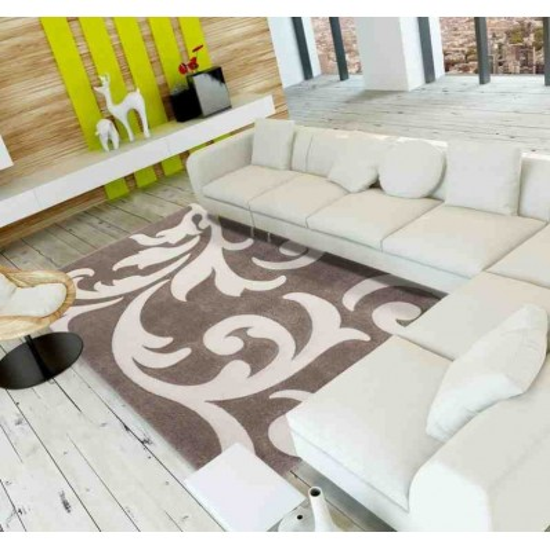 tappeto moderno floreale france paris beige-avorio
