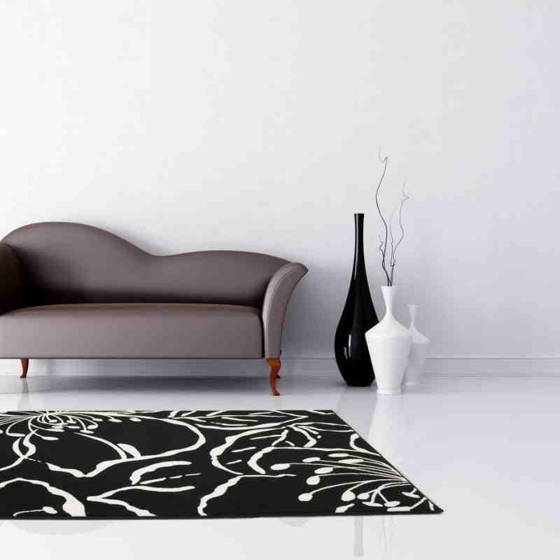 tappeto moderno fantasia funky 1656 nero
