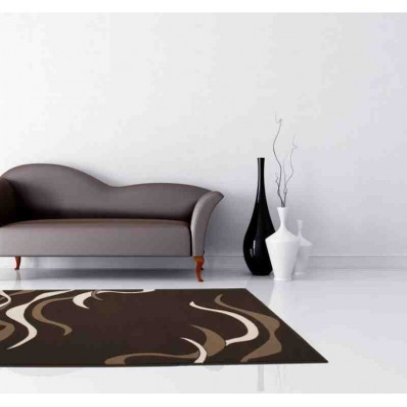 tappeto moderno fantasia funky 1292 caffe