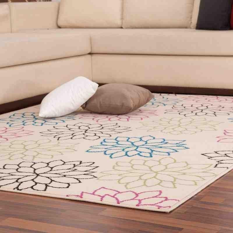 tappeto moderno floreale funky 523 arcobaleno