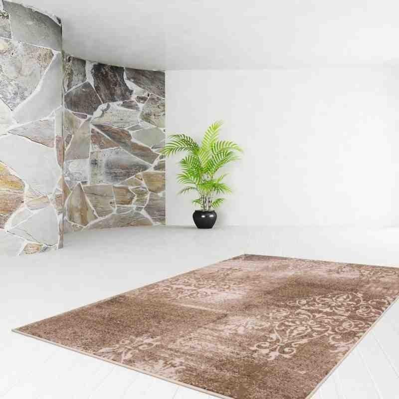 tappeto moderno vintage funky 1424 caramello