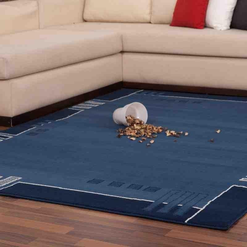 tappeto moderno fantasia funky 514 blu
