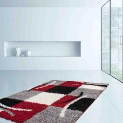 tappeto moderno geometrico germany aachen rosso