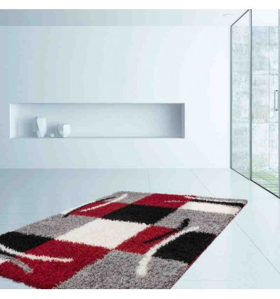 tappeto moderno geometrico germany aachen rosso