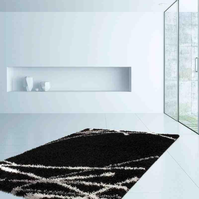 tappeto moderno fantasia germany bonn nero