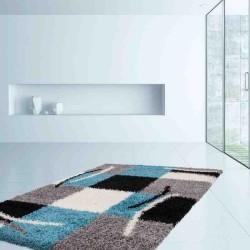 tappeto moderno geometrico germany aachen blu