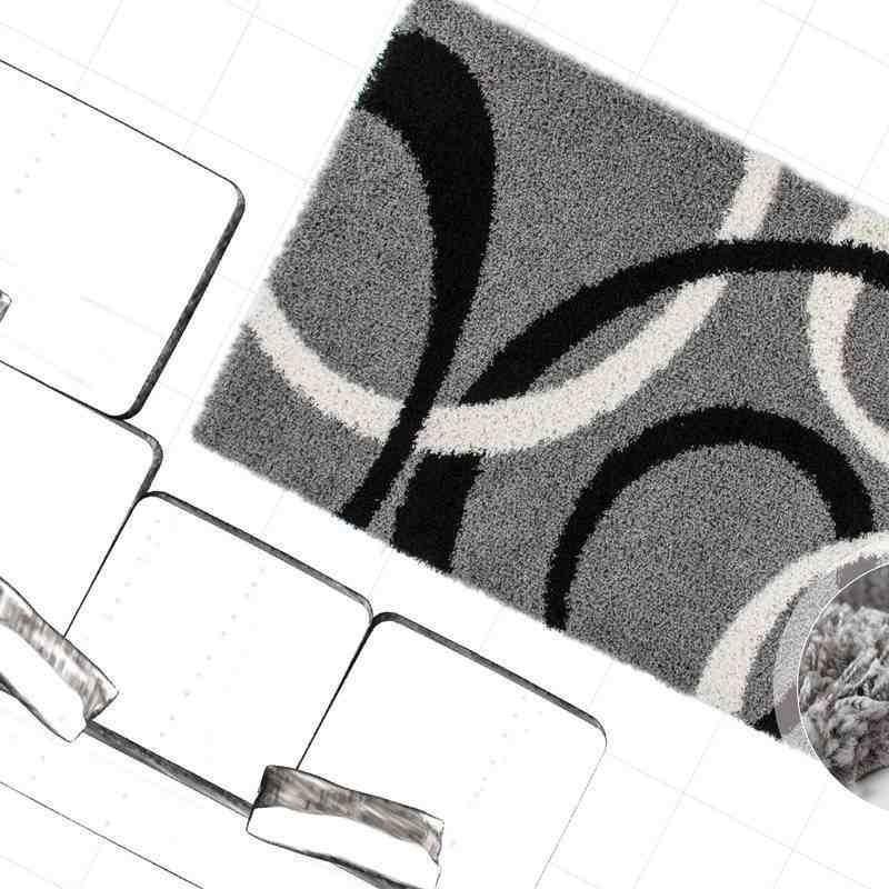 tappeto moderno geometrico germany dresden argento