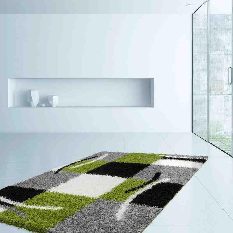 tappeto moderno geometrico germany aachen verde