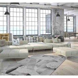 tappeto moderno floreale greece delphi argento