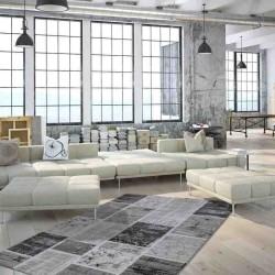 tappeto moderno patchwork greece edessa argento
