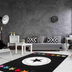 tappeto moderno fantasia hacienda 410 multi-nero