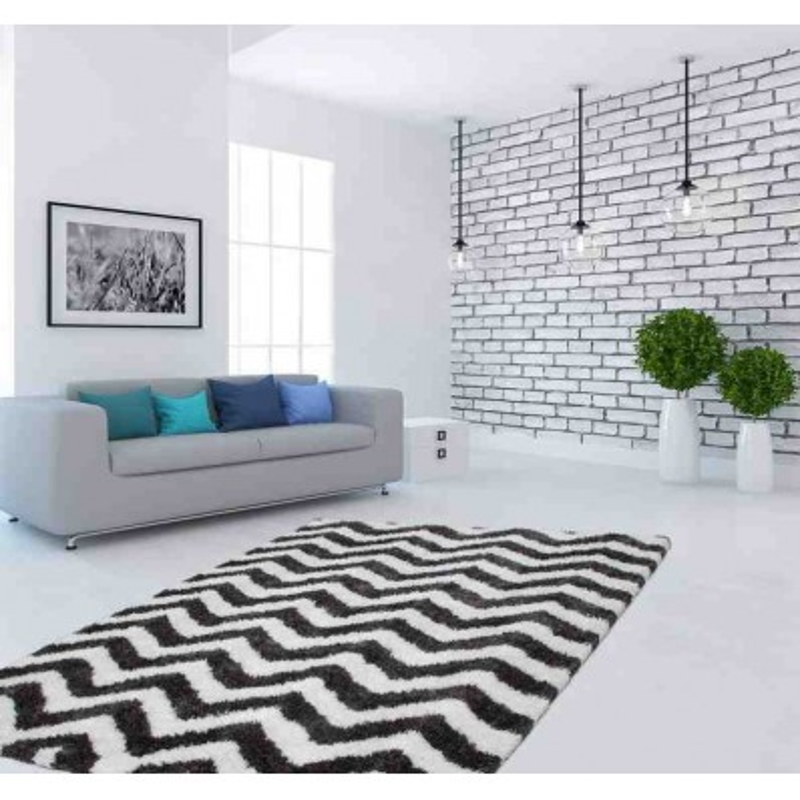 tappeto moderno geometrico hungary sopron avorio-grafite