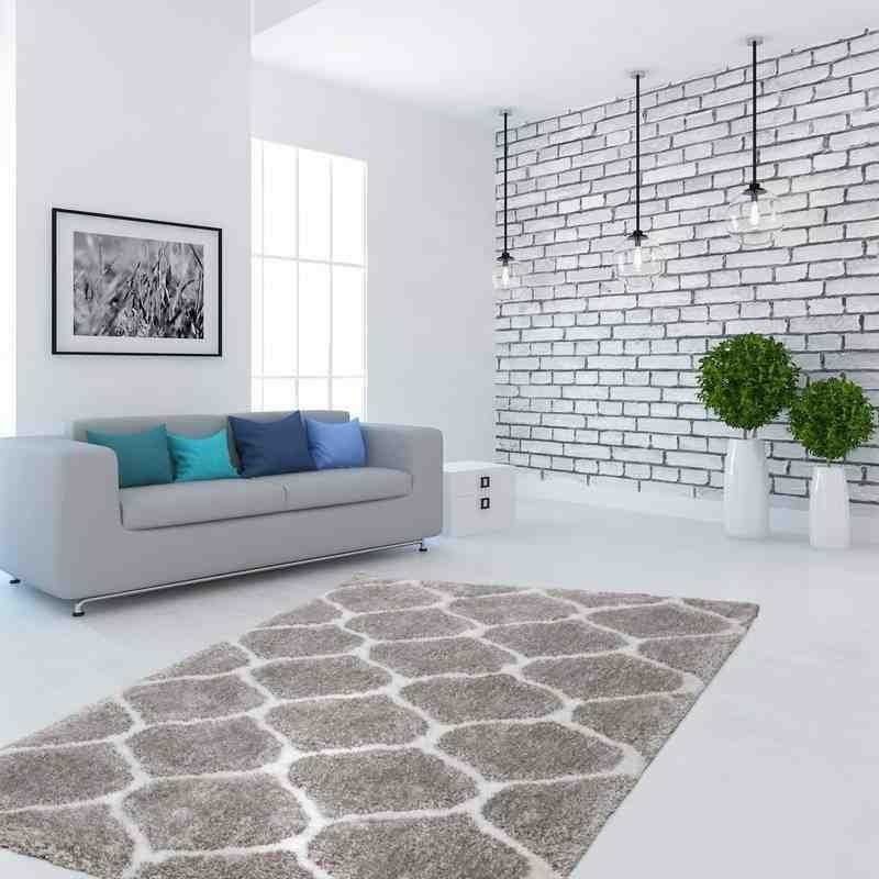 tappeto moderno geometrico hungary eger argento-bianco