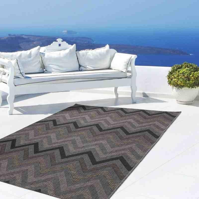 tappeto moderno geometrico indonesia rengat grigio