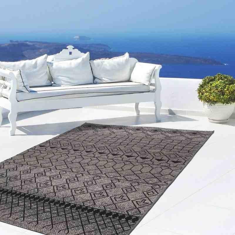 tappeto moderno geometrico indonesia liwa argento