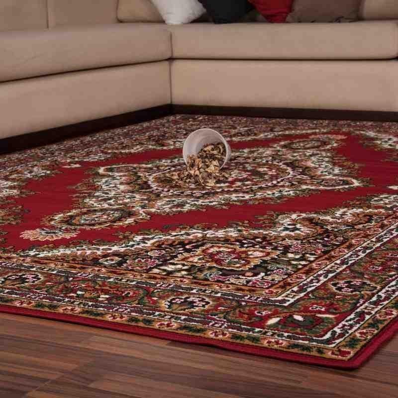tappeto moderno classico iran teheran rosso