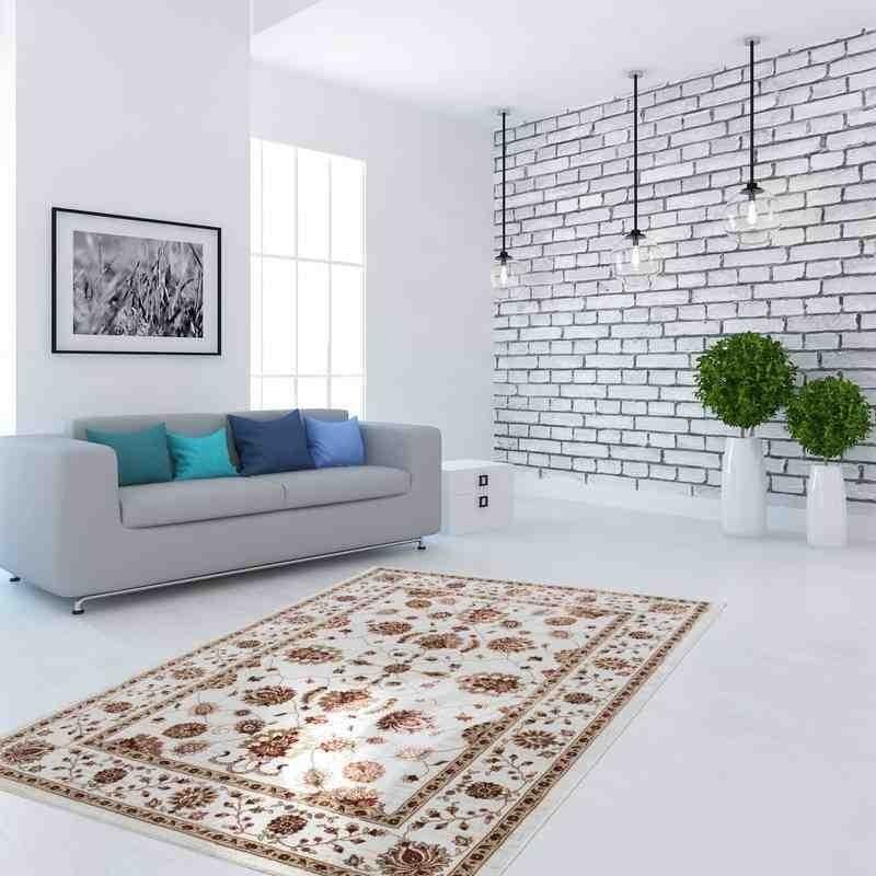 tappeto moderno classico kurdistan avorio