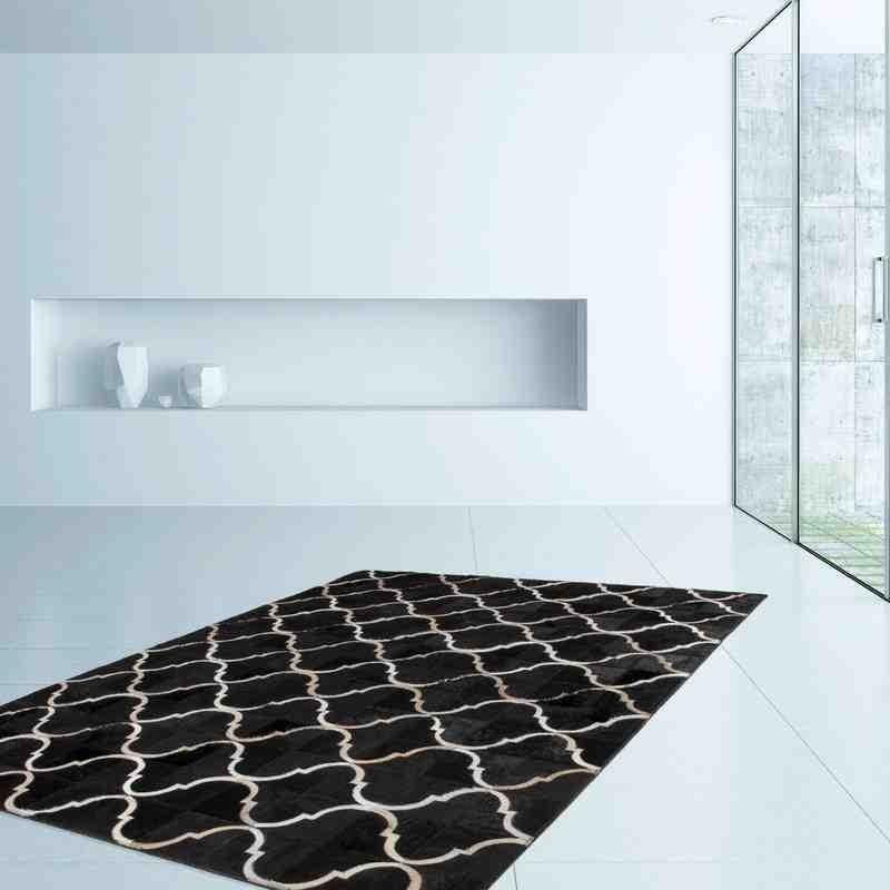 tappeto moderno geometrico lavish 310 nero