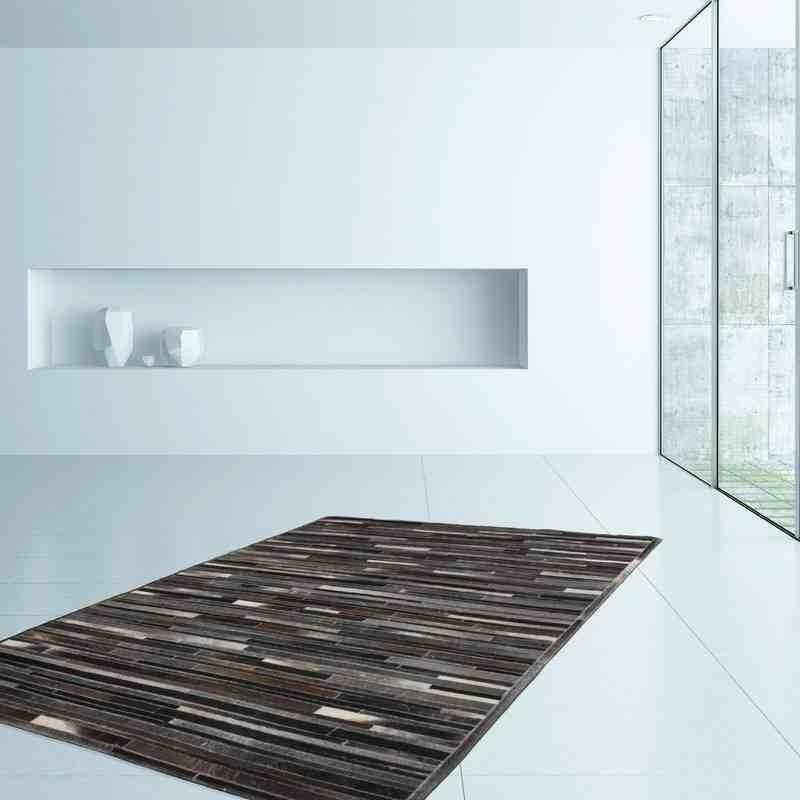 tappeto moderno tinta unita lavish 110 grigio-marrone
