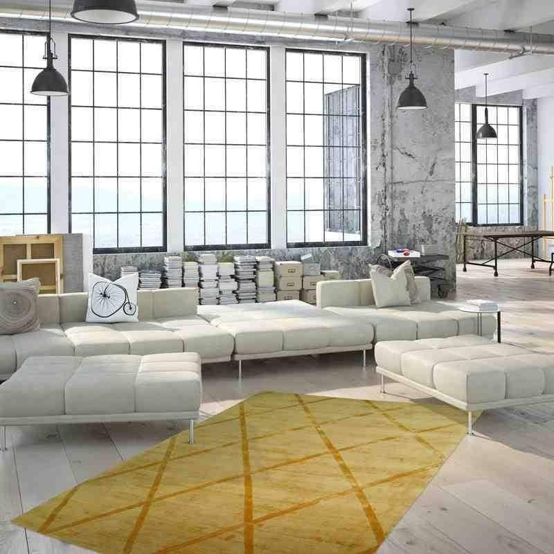 tappeto moderno geometrico luxury 210 giallo seta