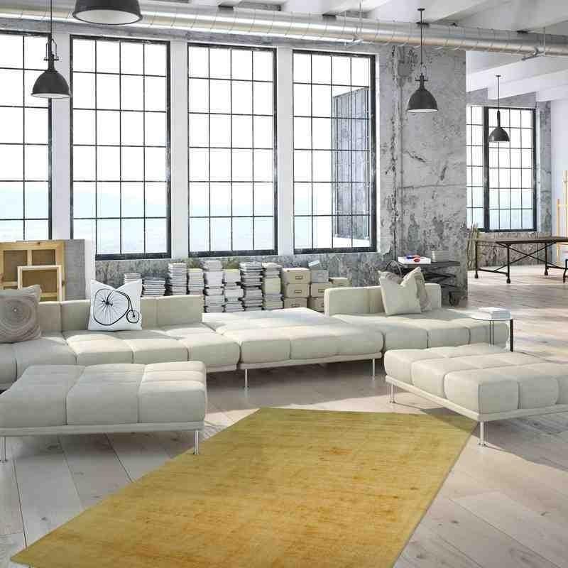 tappeto moderno tinta unita luxury 110 giallo seta
