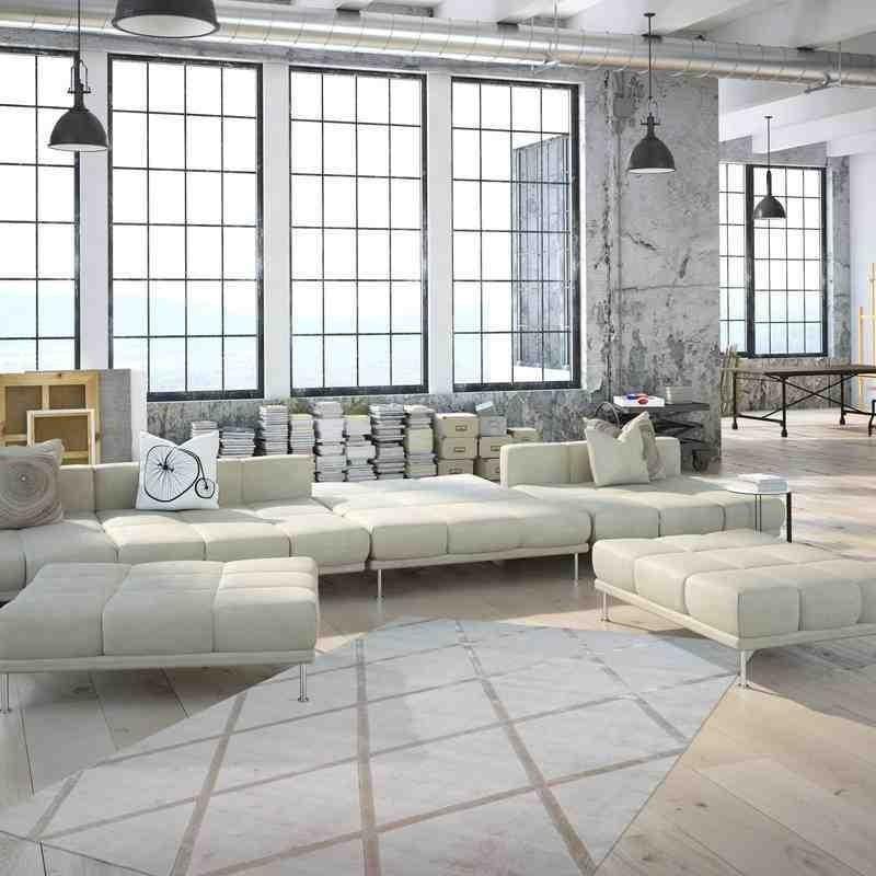 tappeto moderno geometrico luxury 210 avorio-tortora seta