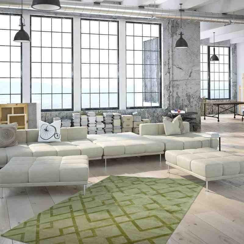 tappeto moderno geometrico luxury 310 noble verde seta