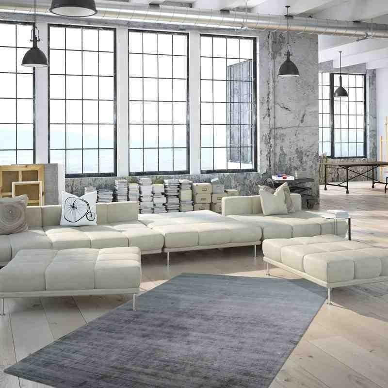 tappeto moderno tinta unita luxury 110 menta seta