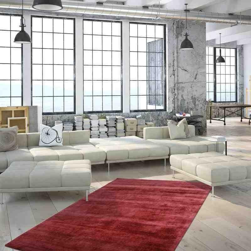tappeto moderno tinta unita luxury 110 violetto seta