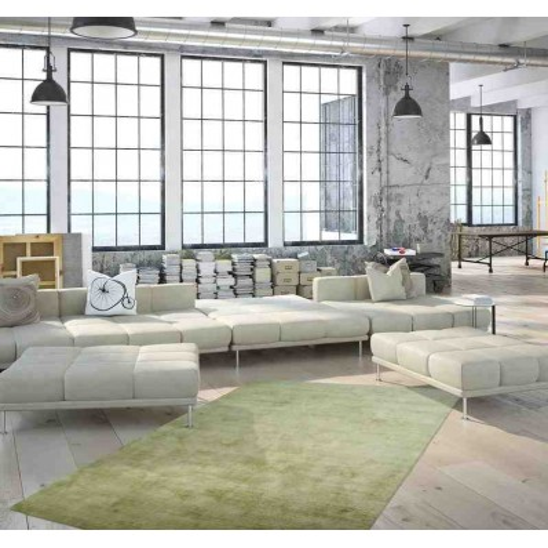 tappeto moderno tinta unita luxury 110 noble verde seta