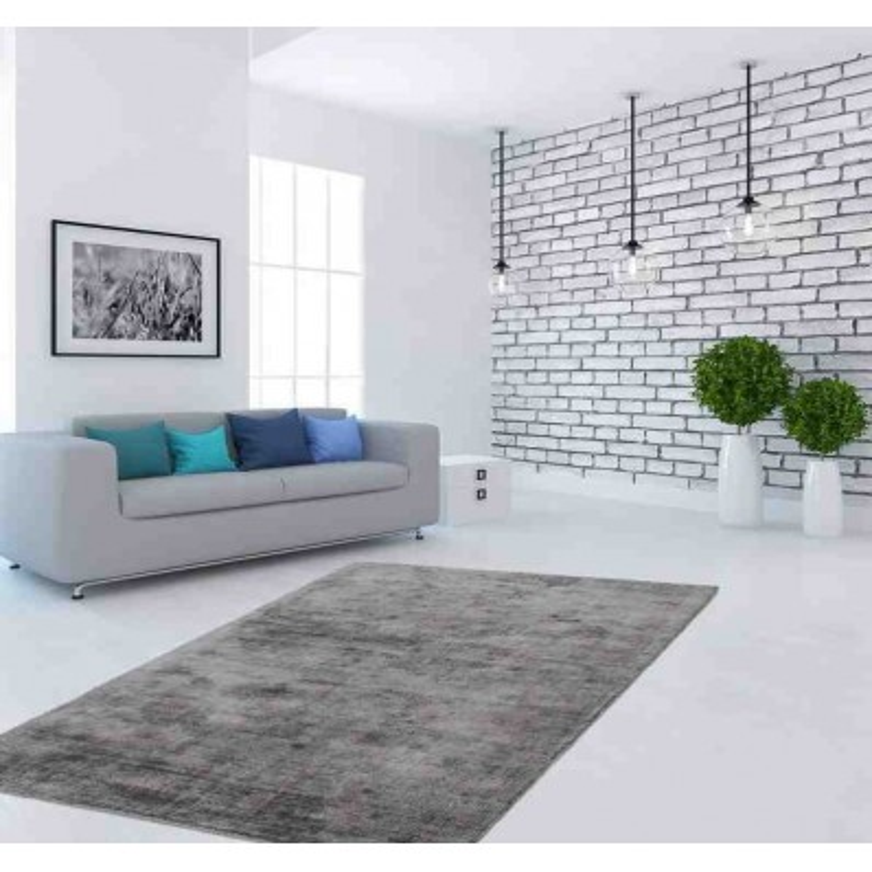 Tappeto luxury 110 grigio antracite seta - Tappeto moderno grigio ...