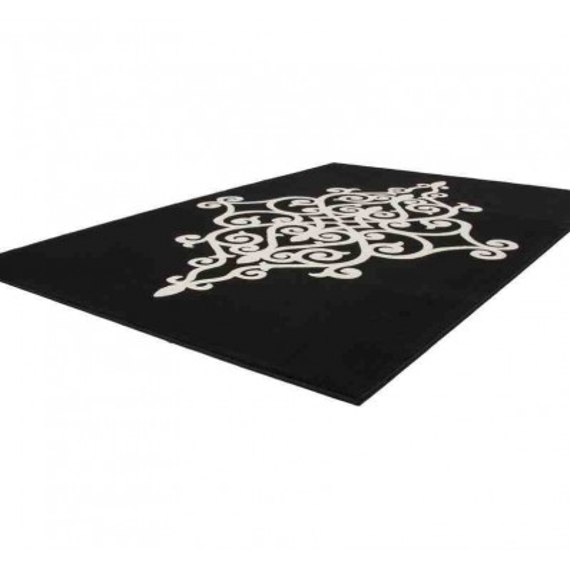 tappeto moderno floreale manolya 2099 nero